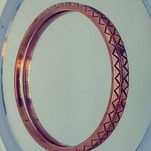 """Southwestern Copper Bangle Bracelet  3"""" Diameter"""